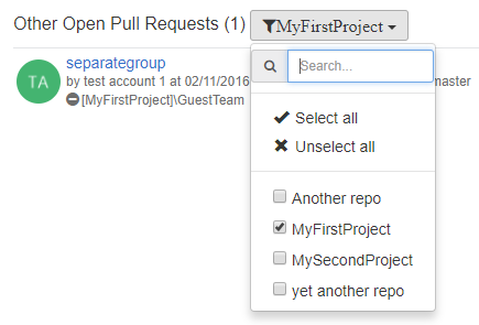 Filtering Repositories